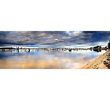Stormy Over the Boats Photographic Print