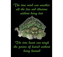 The Legend of Korra Lion Turle With Quote Photographic Print