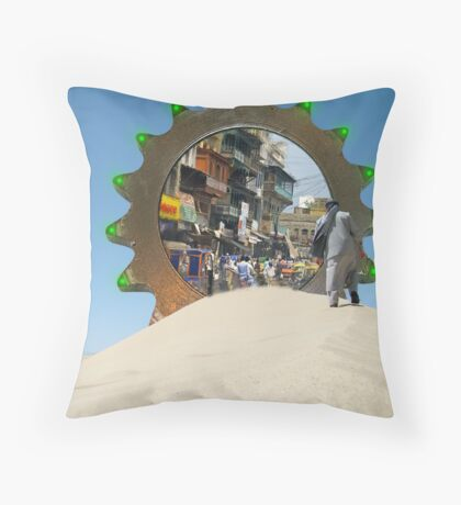 I think I finally got my Stargate to Pakistan Working Again Throw Pillow