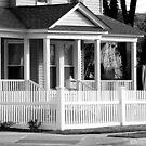 Patriotic Little corner House3-B&W by henuly1