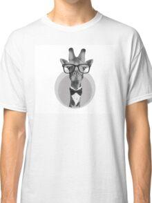 Hipster Giraffe Classic T-Shirt