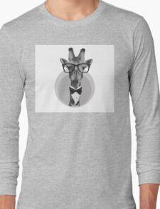 Hipster Giraffe Long Sleeve T-Shirt