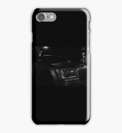 Supercharged 6.1L Chrysler 300C SRT8 B&W iPhone Case/Skin