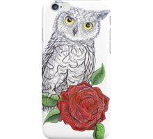 The Owl's Rose iPhone Case/Skin