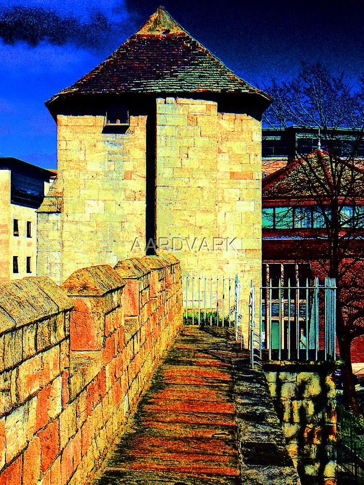 Playing with Photoshop - The Postern Gate Tower On York's City Walls by AARDVARK