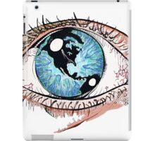 Then One Day, The Earth Was In Her Eye iPad Case/Skin