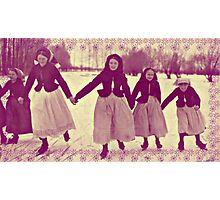 Five Skating Girls Photographic Print