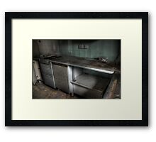 Barely a kitchen Framed Print