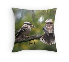 Kookaburras at Sherbrooke Forest Throw Pillow
