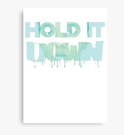 donna goudeau HOLD IT DOWN blue 11 Canvas Print