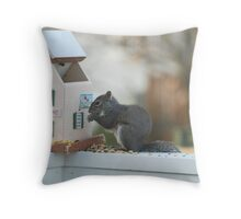 Eating me out of house and home Throw Pillow