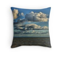 clouds afar Throw Pillow