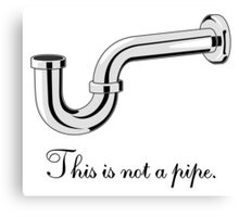 This is not a pipe. Canvas Print