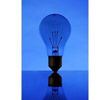 blue light Photographic Print