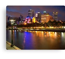 Melbourne City at Night II Canvas Print