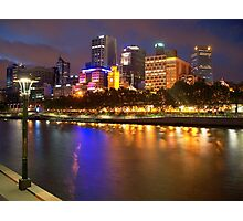 Melbourne City at Night II Photographic Print