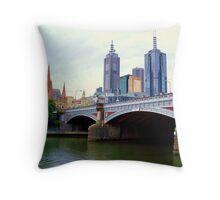 Princes Bridge Melbourne Throw Pillow