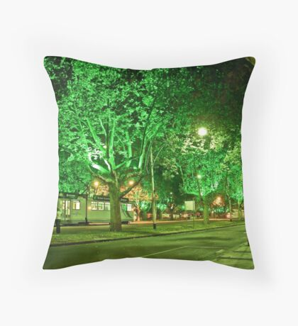 St Kilda Road , Melbourne, at Midnight  Throw Pillow