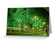 St Kilda Road , Melbourne, at Midnight  Greeting Card