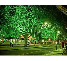 St Kilda Road , Melbourne, at Midnight  Photographic Print