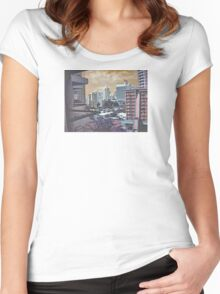 strange city Women's Fitted Scoop T-Shirt