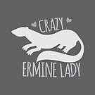 Crazy Ermine Lady by jazzydevil