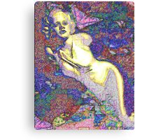 Bombshell Colored Canvas Print