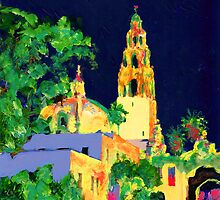 Balboa Park at Night - San Diego California by RDRiccoboni