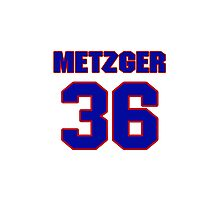 National baseball player Butch Metzger jersey 36 Photographic Print