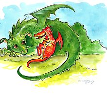 little dragons by Christiane C. Wolff