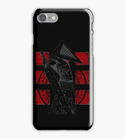 Pyramid Head Tribute (Black Background Only) iPhone Case/Skin