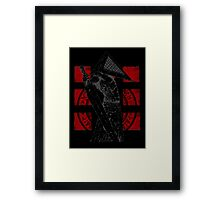 Pyramid Head Tribute (Black Background Only) Framed Print