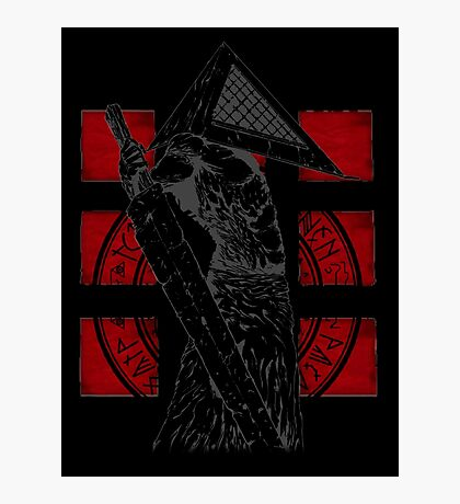 Pyramid Head Tribute (Black Background Only) Photographic Print