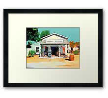 Red Long Johns are In - The Alvarado House painting by Riccoboni Framed Print