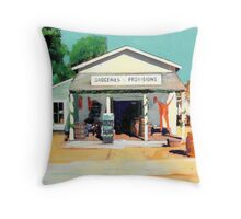 Red Long Johns are In - The Alvarado House painting by Riccoboni Throw Pillow