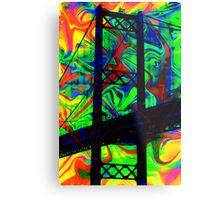 Psychedelic Bridge Metal Print