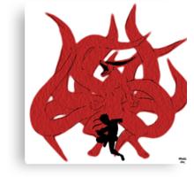 Naruto Uzumaki With Kurama (Kyuubi) Canvas Print