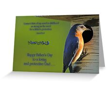 A Father's Protection Greeting Card