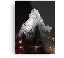 Matterhorn Mountain at Night Metal Print