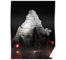 Matterhorn Mountain at Night Poster