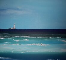 St Mary's Lighthouse by Anne Nicholson