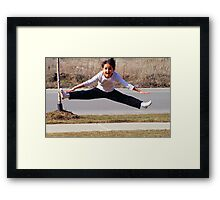 The Air Splits Framed Print