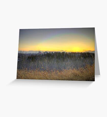 Edmonton Sunset (HDR) Greeting Card
