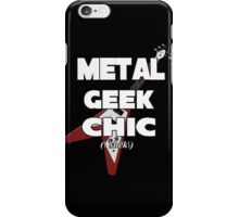 Metal Geek Chic-Devices, etc. White Letters iPhone Case/Skin