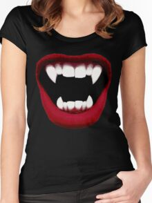 Vampire Smile Women's Fitted Scoop T-Shirt