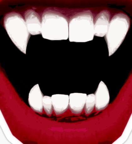 Vampire Smile Sticker
