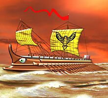 7th to the 4th century BCE Greek Trireme - all products by Dennis Melling