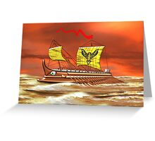7th to the 4th century BCE Greek Trireme - all products Greeting Card