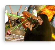 The Hijabi Heroines take on the Intergalactic dOve Invaders Canvas Print
