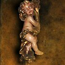 Antique Portuguese Angel Statue by Bine